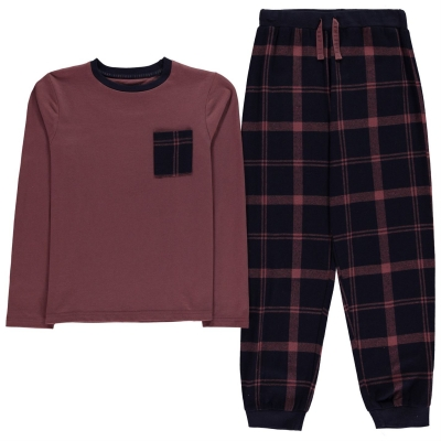 Firetrap cu Maneca Lunga Pyjama Set de baieti Junior