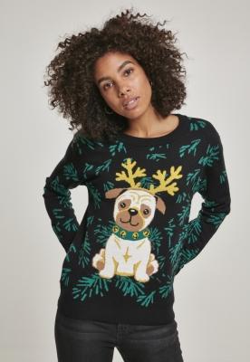 Bluza de trening Pug Christmas pentru Femei Urban Classics