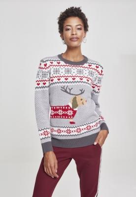 Bluza de trening Sausage Dog Christmas pentru Femei Urban Classics