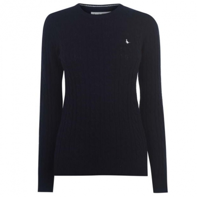 Jack Wills Tinsbury Merino Wool Cable Knitted Jumper