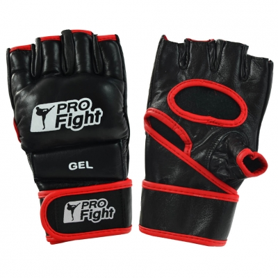Manusi MMA PROFIGHT din piele black