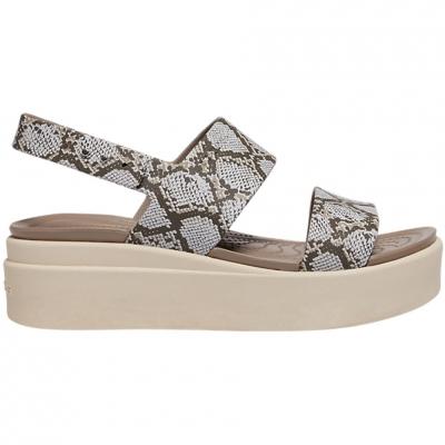 Sandale Crocs 's Brooklyn Low Wedge In multi plaster 206453 93T pentru Femei