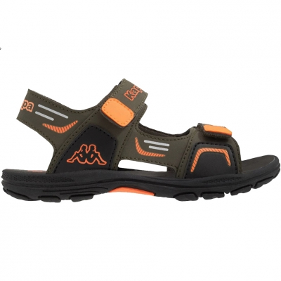 Sandale Kappa Pure T Footwear green-orange 260594T 3144 pentru Copil