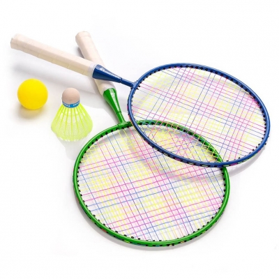 Badminton set meteor Enjoy 2 racket green blue 15040 Junior