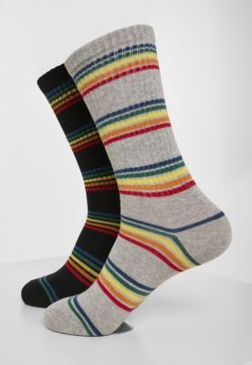 Sosete Rainbow Stripes 2-Pack Urban Classics