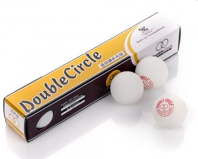 Double Circle ping pong balls white 6pcs 3039