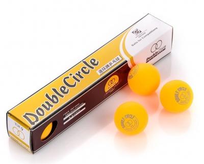Double Circle ping pong balls orange 6pcs 3040