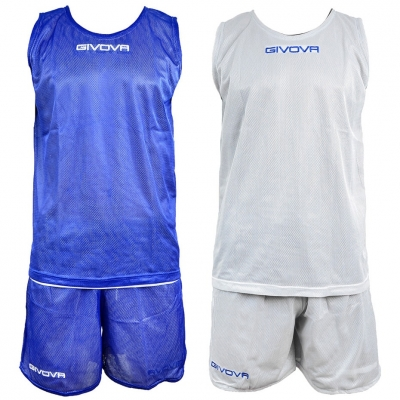 SET GIVOVA BASKETBALL DOUBLE BLUE AND WHITE