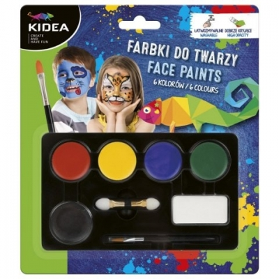 Set Pictura Pe Fata 6 Culori Kidea