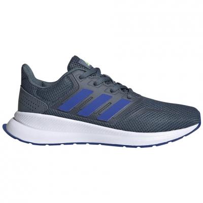 Pantofi sport for adidas Runfalcon K gray-blue FV9442 pentru Copil