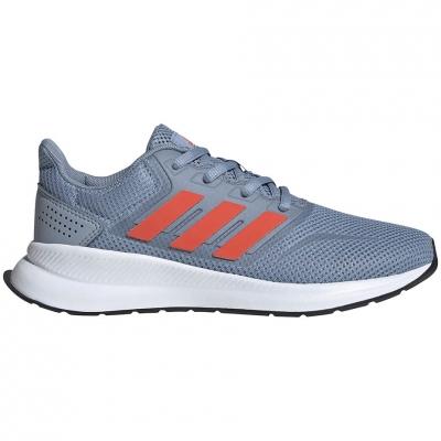 Pantofi sport for adidas Runfalcon K gray-orange FV9440 pentru Copil