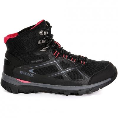 Pantofi sport 's Regatta WMS Kota Mid black and pink RWF490 7HQ pentru Femei