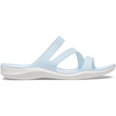 Papuci Casa Crocs 's Swiftwater Blue & White 203998 4JQ pentru Femei