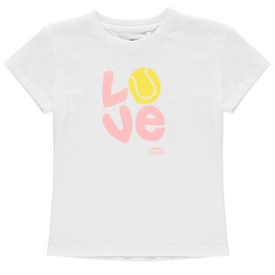 Tricouri Slazenger Graphic de fete Junior