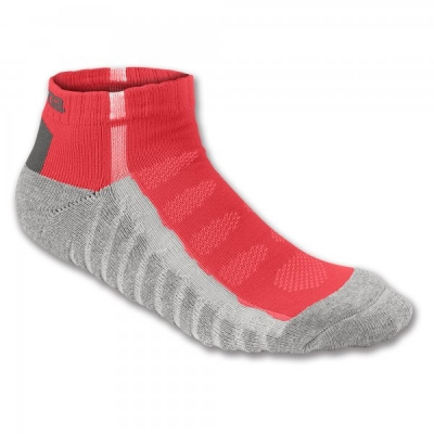 Sosete Ankle Red-grey Striped Joma