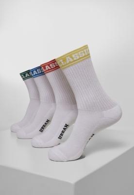 Sosete Short Sporty Logo Coloured Cuff 4-Pack Urban Classics