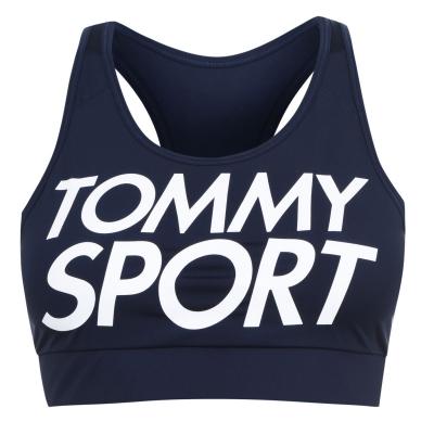 Tommy Sport Logo Sports Bra