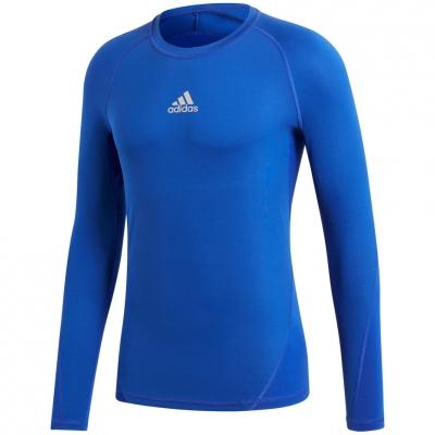 Tricouri Tricouri Men's adidas Alphaskin Sport LS blue CW9488