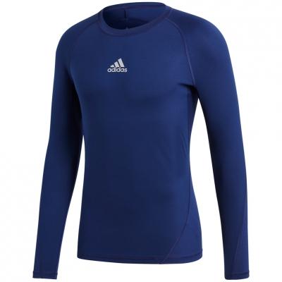 Tricouri Tricouri Men's adidas Alphaskin Sport LS dark blue CW9489