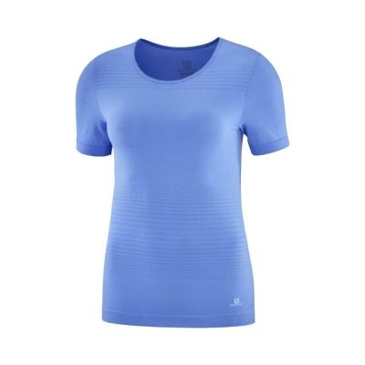 Tricou Alergare Femei Salomon ELEVATE MOVE ON TEE W Albastru
