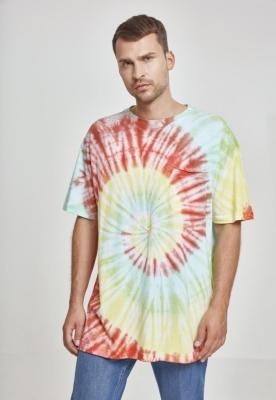 Tricouri Spiral Tie Dye Pocket Urban Classics