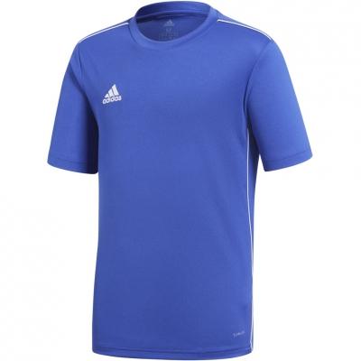 Tricouri for boy adidas Core 18 JSY JR blue CV3495 adidas teamwear
