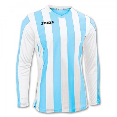 Tricouri Copa Sky Blue-white L/s Joma