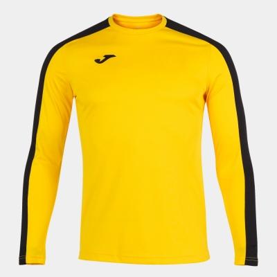 Tricouri Academy Yellow-black L/s Joma