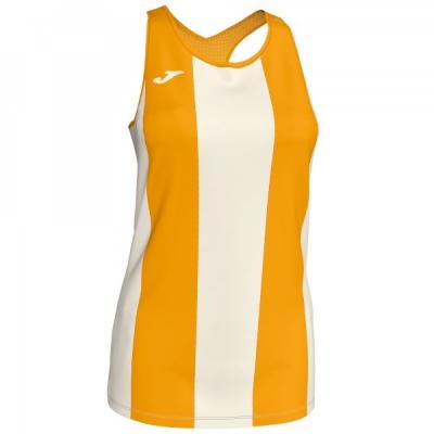 Tricouri Aurora Offwhite-mustard Sleeveless pentru Femei Joma
