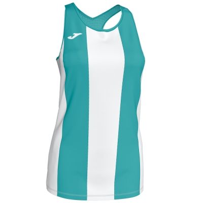 Tricouri Aurora Turq-whi Sleeveless pentru Femei Joma
