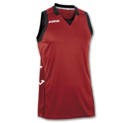 Tricouri Cancha Ii Red-black Sleeveless Joma