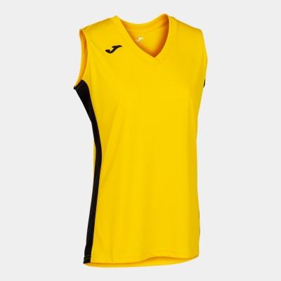 Tricouri Cancha Iii Yellow-black Sleeveless Joma
