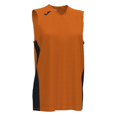 Tricouri Cancha Iii Orange-black Sleeveless Joma