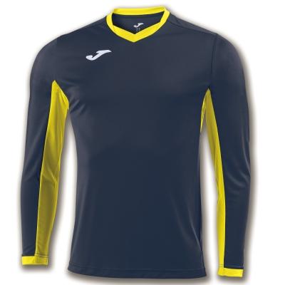 Tricouri Champion Iv Navy-yellow L/s Joma