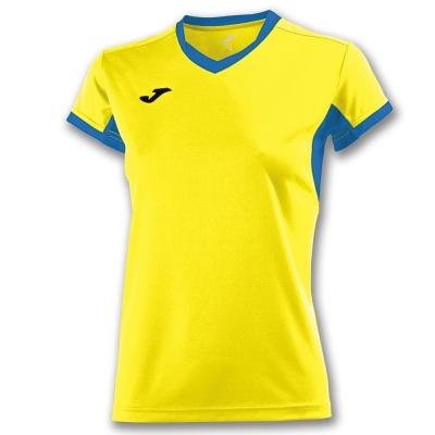 Tricouri Champion Iv Yellow-royal S/s pentru Femei Joma