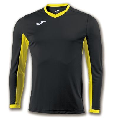 Tricouri Champion Iv Black-yellow L/s Joma