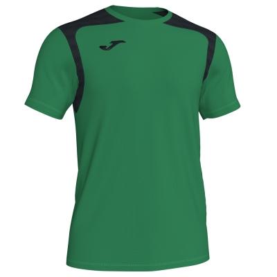 Tricouri Champion V Green-black S/s Joma
