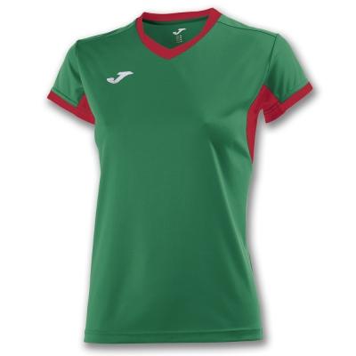Tricouri Champion Iv Green-red S/s pentru Femei Joma