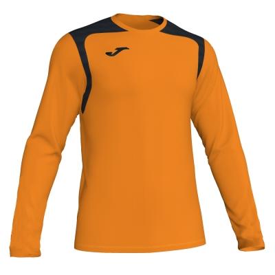 Tricouri Champion V Orange-black L/s Joma