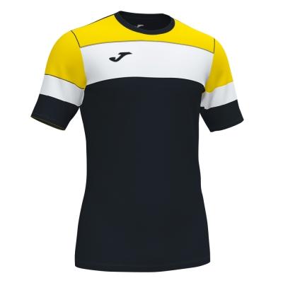 Tricouri Crew Iv Cotton Black-yellow S/s Joma