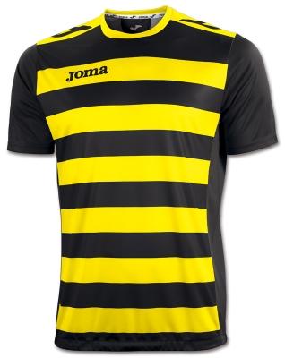 Tricouri Europa Ii Black-yellow S/s Joma