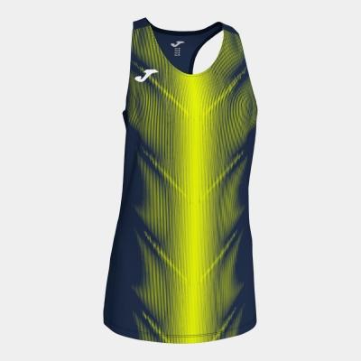 Tricouri Olimpia D.navy-f.yellow Sleeveless pentru Femei Joma