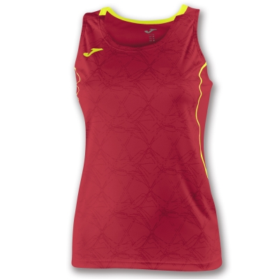 Tricouri Record Ii Sleeveless Red-yellow pentru Femei Joma
