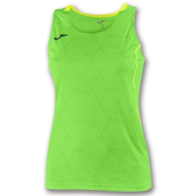 Tricouri Record Ii Sleeveless Green Fluor pentru Femei Joma