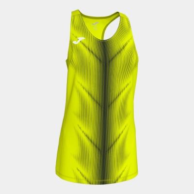 Tricouri Olimpia F.yellow-black Sleeveless pentru Femei Joma