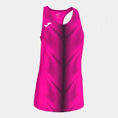Tricouri Olimpia Fluor Pink-black Sleeveless pentru Femei Joma