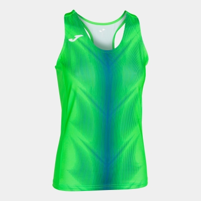 Tricouri Olimpia Fluor Green-royal Sleeveless pentru Femei Joma