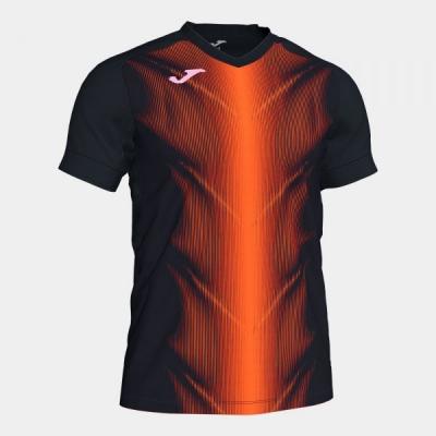 Tricouri Olimpia Black-orange S/s Joma