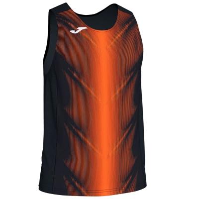 Tricouri Olimpia Black-orange Sleeveless Joma