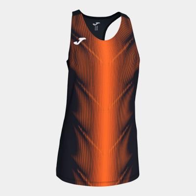 Tricouri Olimpia Black-orange Sleeveless pentru Femei Joma